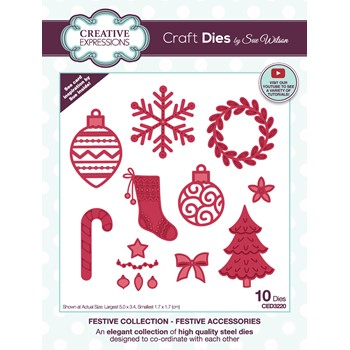 Creative Expressions FESTIVE ACCESSORIES Craft Dies ced3220