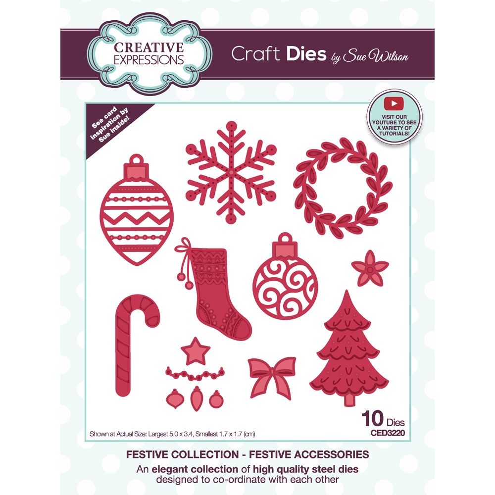 Creative Expressions FESTIVE ACCESSORIES Craft Dies ced3220 zoom image