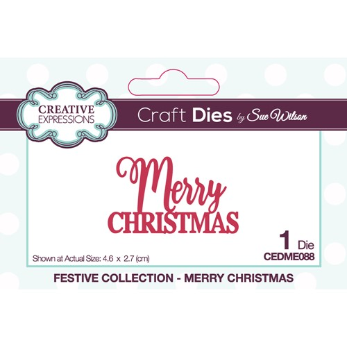 Creative Expressions MERRY CHRISTMAS Sue Wilson Festive Mini Expressions Die cedme088 Preview Image