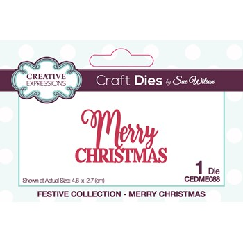 Creative Expressions MERRY CHRISTMAS Sue Wilson Festive Mini Expressions Die cedme088