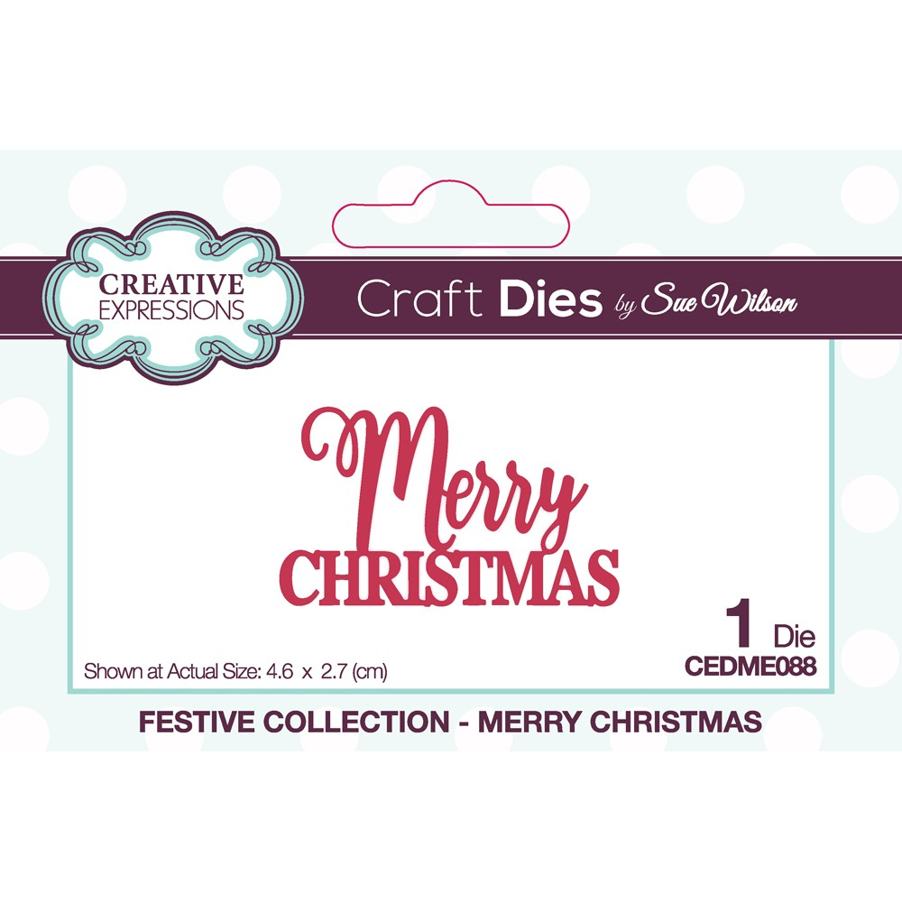 Creative Expressions MERRY CHRISTMAS Sue Wilson Festive Mini Expressions Die cedme088 zoom image
