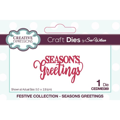 Creative Expressions SEASONS GREETINGS Sue Wilson Festive Mini Expressions Die cedme089 Preview Image
