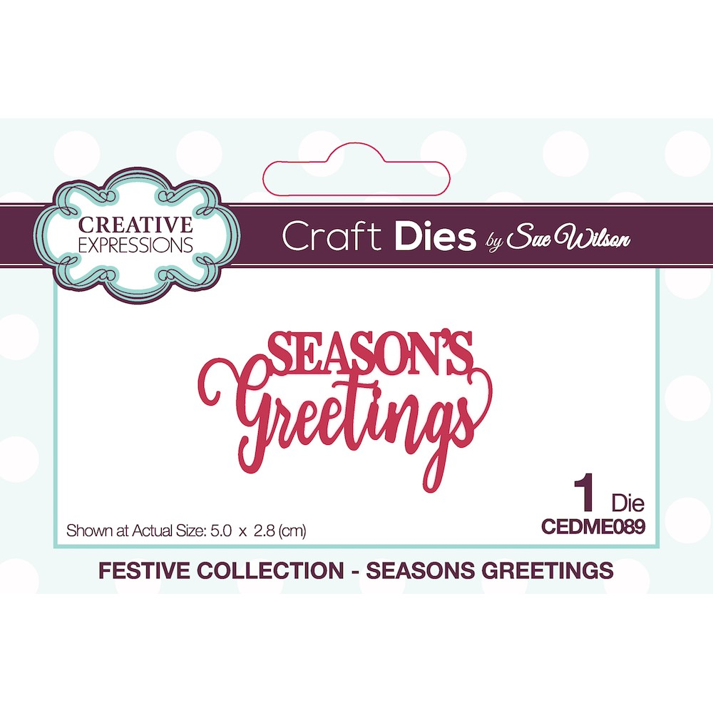 Creative Expressions SEASONS GREETINGS Sue Wilson Festive Mini Expressions Die cedme089 zoom image