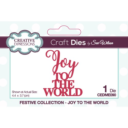 Creative Expressions JOY TO THE WORLD Sue Wilson Festive Mini Expressions Die cedme090 Preview Image