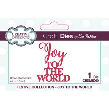 Creative Expressions JOY TO THE WORLD Sue Wilson Festive Mini Expressions Die cedme090