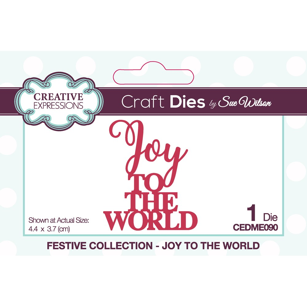 Creative Expressions JOY TO THE WORLD Sue Wilson Festive Mini Expressions Die cedme090 zoom image