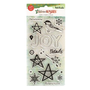 American Crafts Vicki Boutin WARM WISHES Clear Stamps 304010780