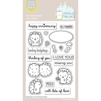 Penguin Palace HEDGEHOGS IN LOVE Clear Stamp Set ppc2007