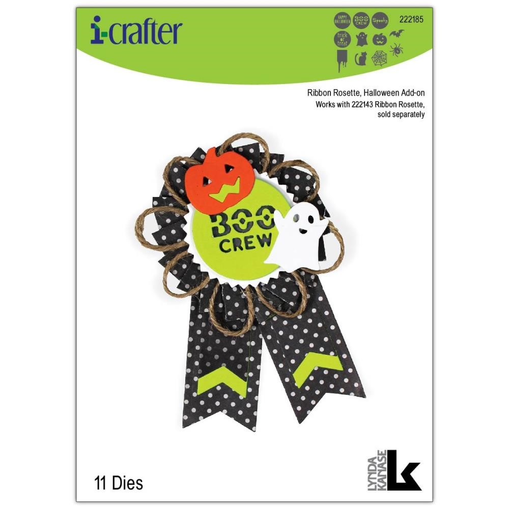 i-Crafter RIBBON ROSETTE HALLOWEEN Dies 222185 zoom image