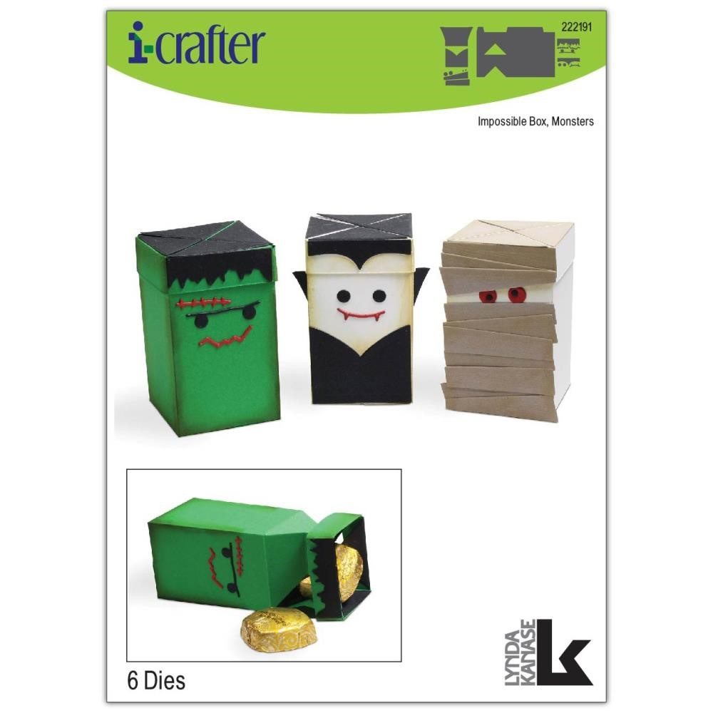i-Crafter IMPOSSIBLE BOX MONSTERS Dies 222191 zoom image