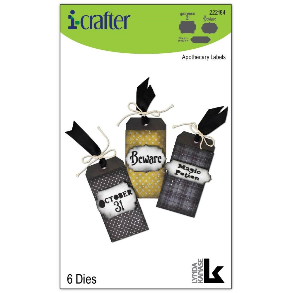 i-Crafter APOTHECARY LABELS Dies 222184 zoom image