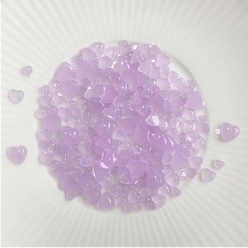 Little Things From Lucy's Cards Droplets LILAC HEARTS LB384