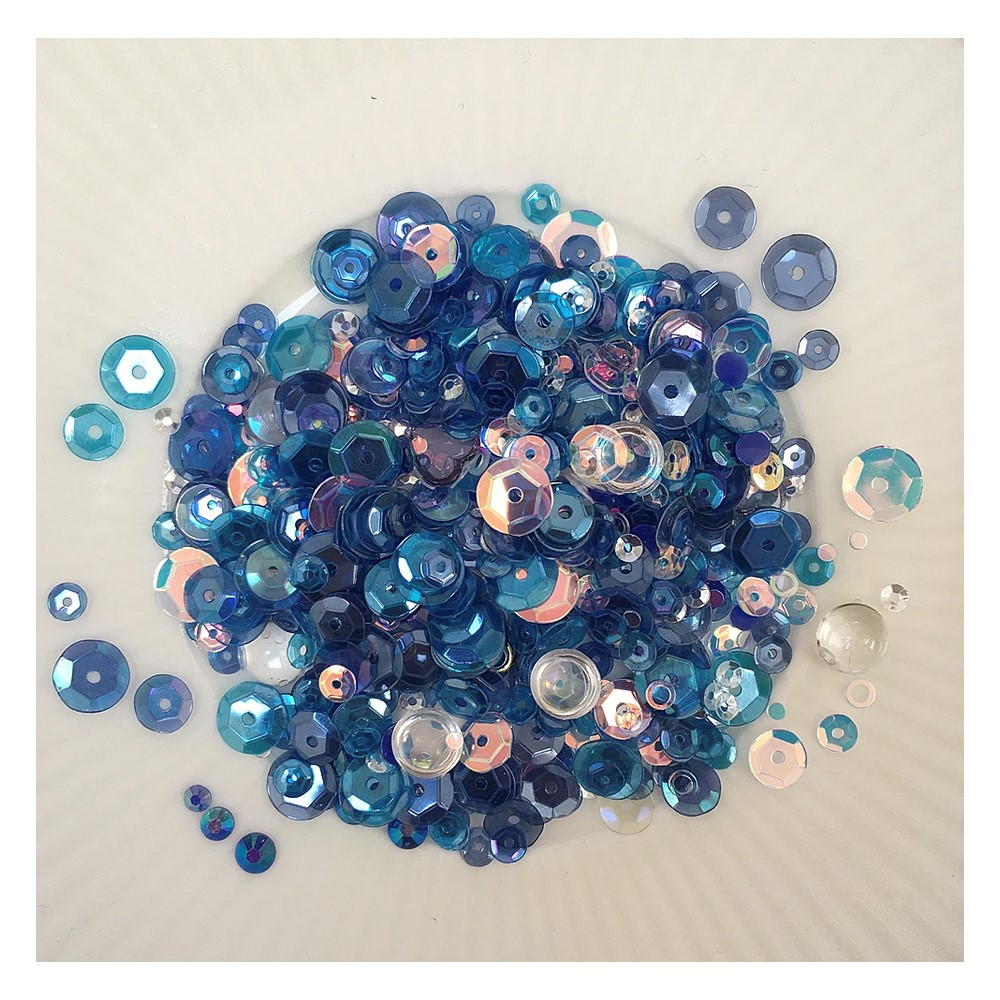Little Things From Lucy's Cards OCEAN Sequin Shaker Mix LB392 zoom image
