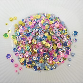 Little Things From Lucy's Cards SATIN BRIGHT Sequin Shaker Mix LB396