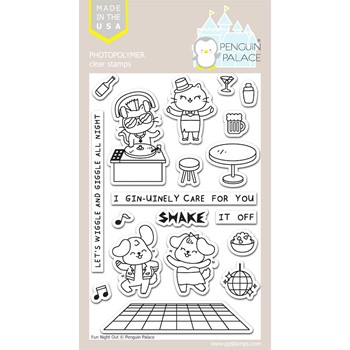 Penguin Palace FUN NIGHT OUT Clear Stamp Set ppc2027