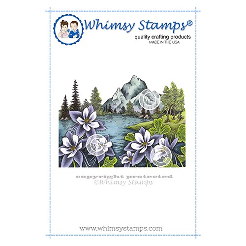 Whimsy Stamps MOUNTAIN COLUMBINE Cling Stamp DA1159 Preview Image