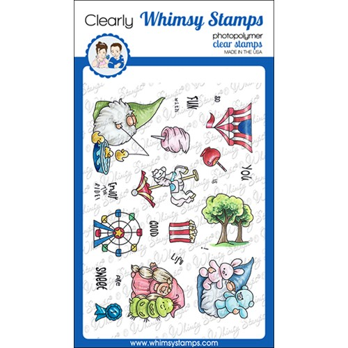 Whimsy Stamps GNOME FAIR FUN Clear Stamps C1160a Preview Image