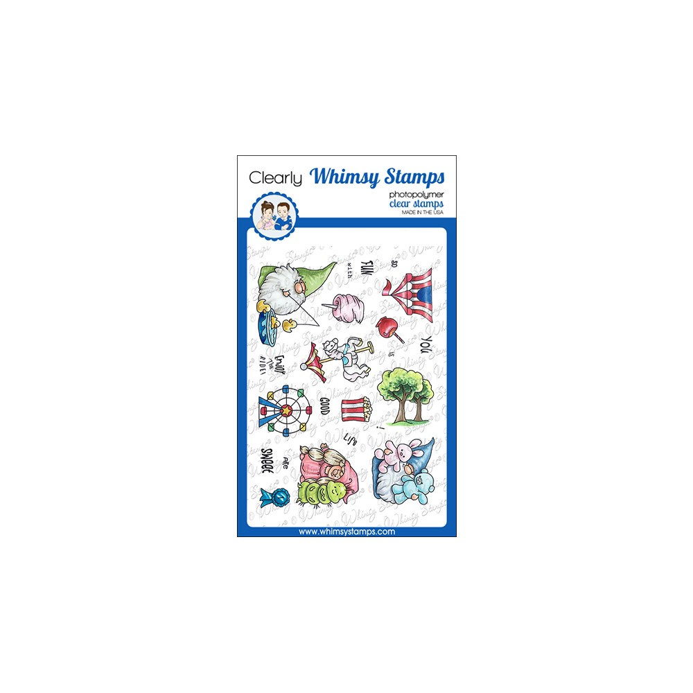 Whimsy Stamps GNOME FAIR FUN Clear Stamps C1160a zoom image