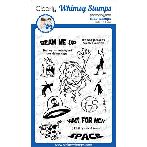 Whimsy Stamps WAIT FOR ME Clear Stamps CWSD383 Preview Image