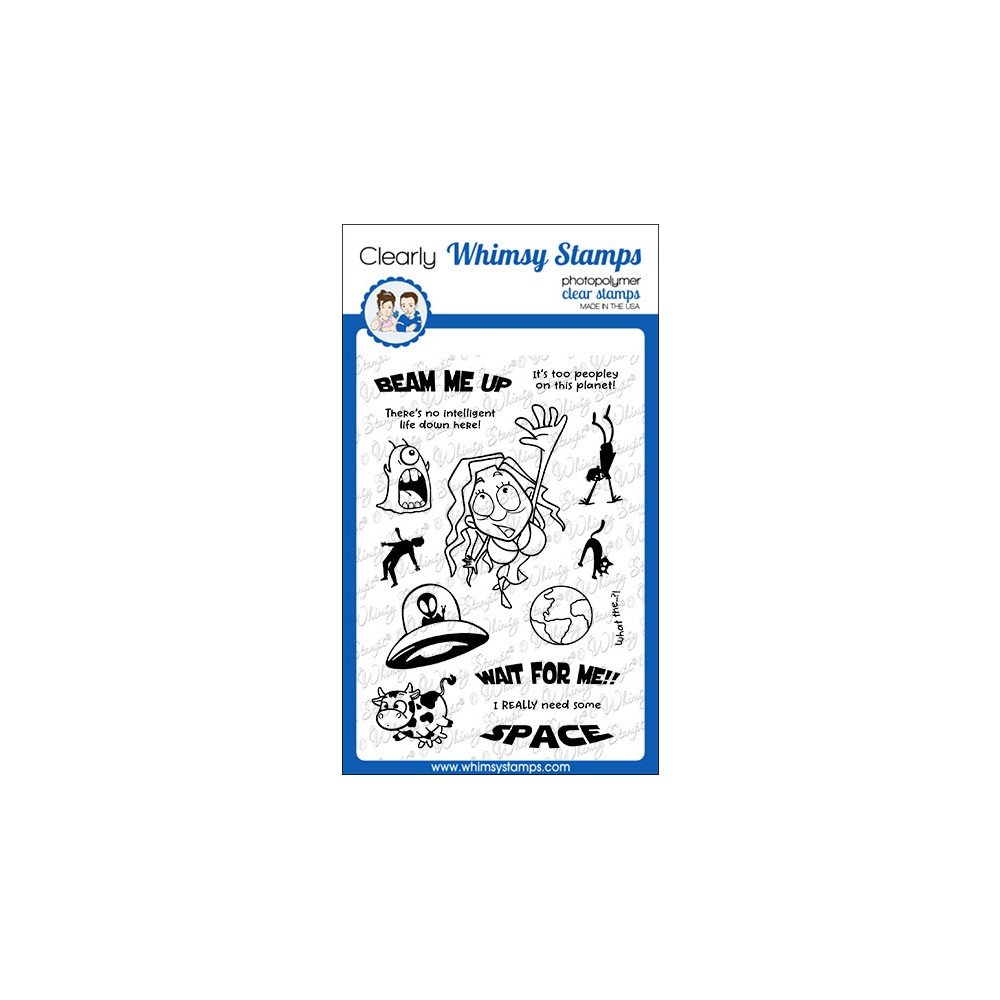 Whimsy Stamps WAIT FOR ME Clear Stamps CWSD383 zoom image