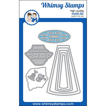 Whimsy Stamps UFO Dies WSD559