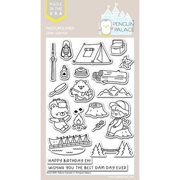 Penguin Palace BOND WITH NATURE CANADA Clear Stamp Set ppc2038