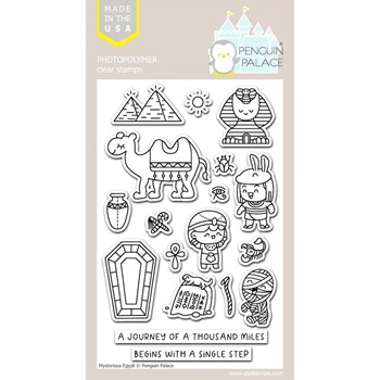 Penguin Palace MYSTERIOUS EGYPT Clear Stamp Set ppc2039