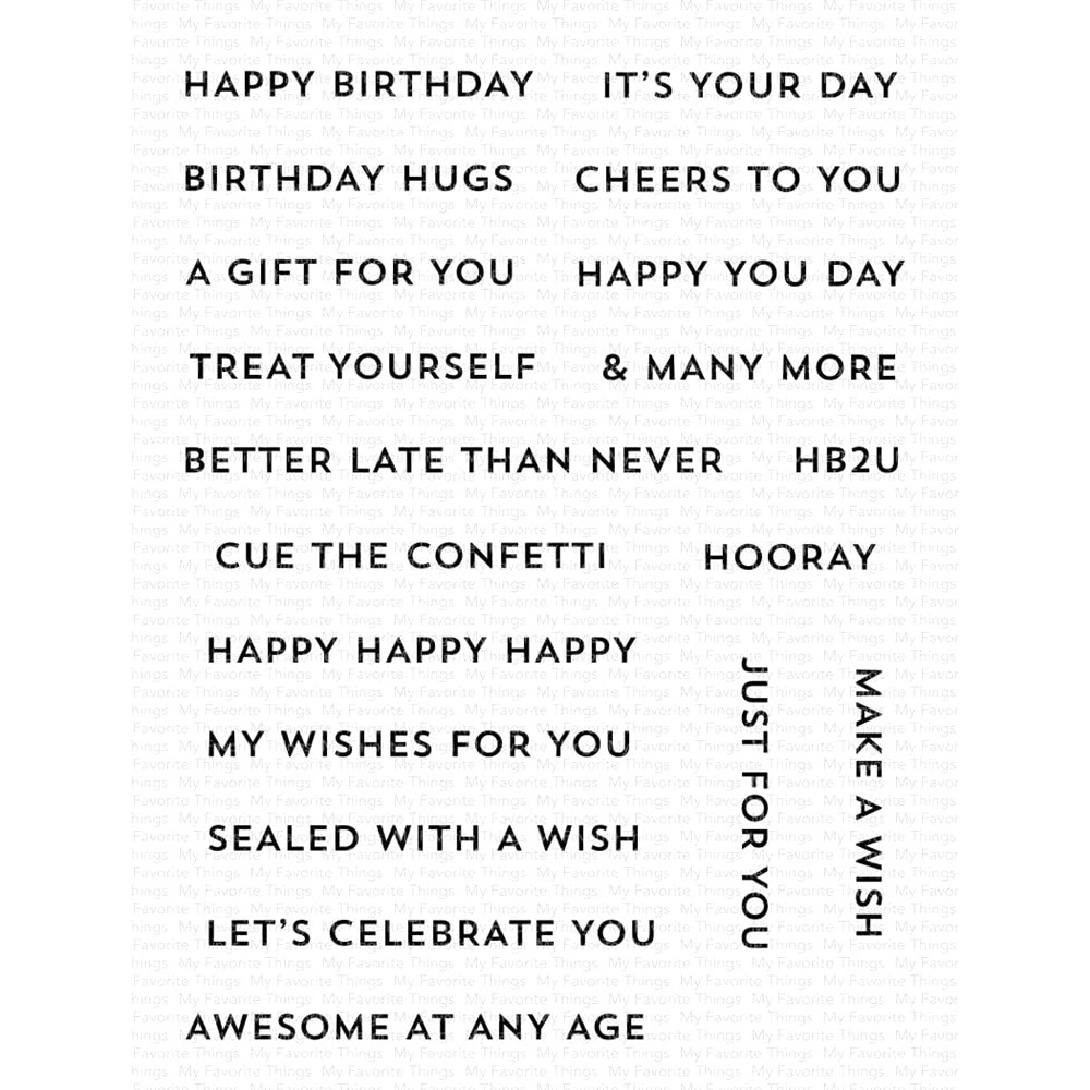 My Favorite Things ITTY BITTY BIRTHDAY Clear Stamps cs586 zoom image