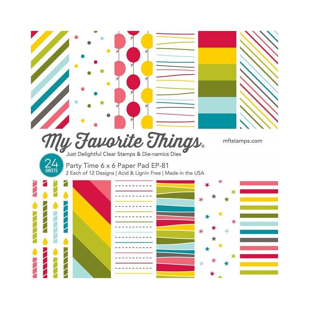 My Favorite Things PARTY TIME 6x6 Inch Paper Pad ep81 zoom image