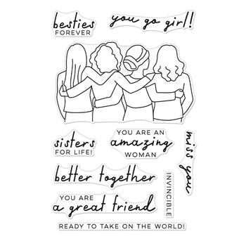 Hero Arts Clear Stamps BETTER TOGETHER CM565