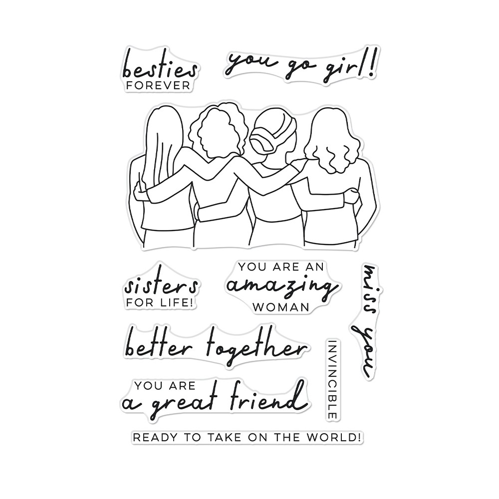Hero Arts Clear Stamps BETTER TOGETHER CM565 zoom image