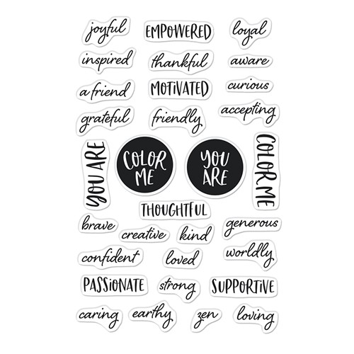 Hero Arts Clear Stamps COLOR ME WORDS CM564 Preview Image