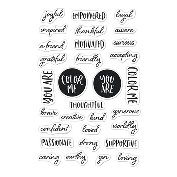 Hero Arts Clear Stamps COLOR ME WORDS CM564