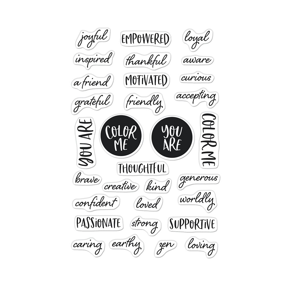 Hero Arts Clear Stamps COLOR ME WORDS CM564 zoom image