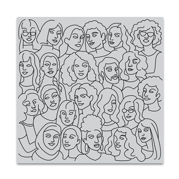 Hero Arts Cling Stamp UNITED PEOPLE BOLD PRINTS CG861