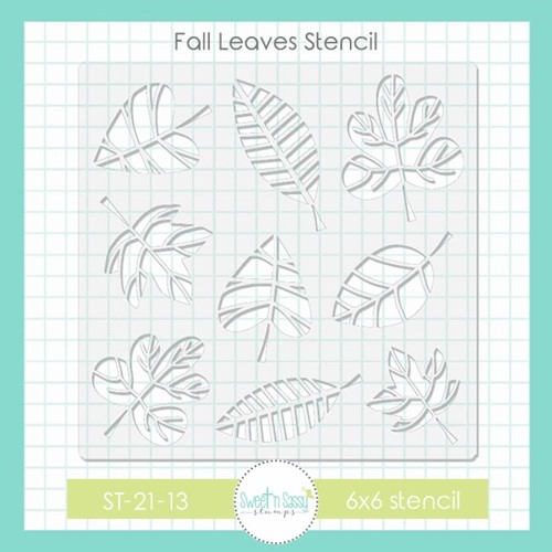 Sweet 'N Sassy FALL LEAVES Stencil st2113 Preview Image