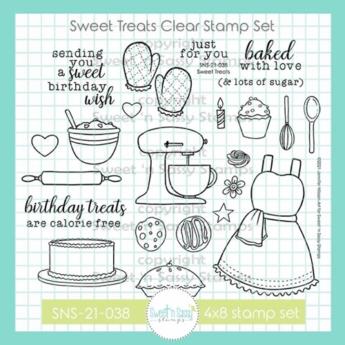 Sweet 'N Sassy SWEET TREATS Clear Stamp Set sns21038 Preview Image