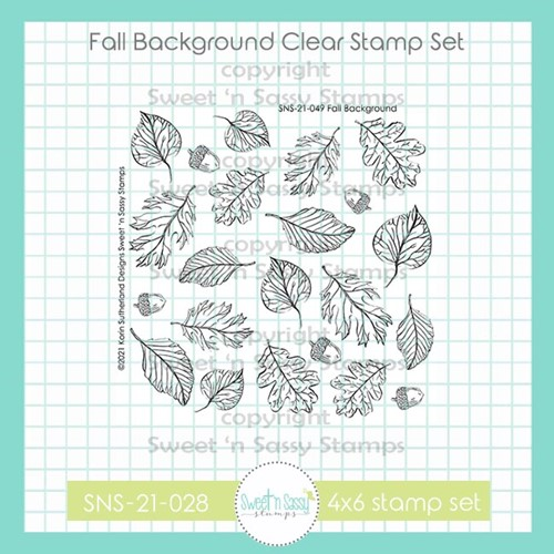 Sweet 'N Sassy FALL BACKGROUND Clear Stamp Set sns21049 Preview Image