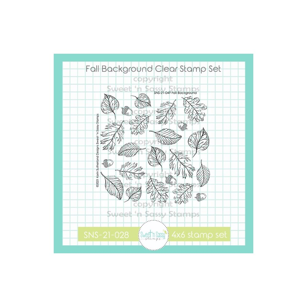 Sweet 'N Sassy FALL BACKGROUND Clear Stamp Set sns21049 zoom image