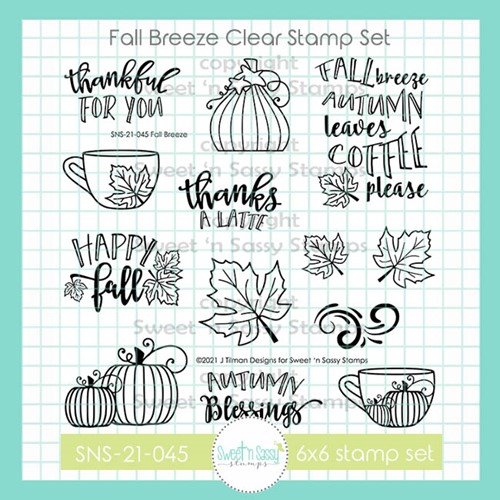Sweet 'N Sassy FALL BREEZE Clear Stamp Set sns21045 Preview Image