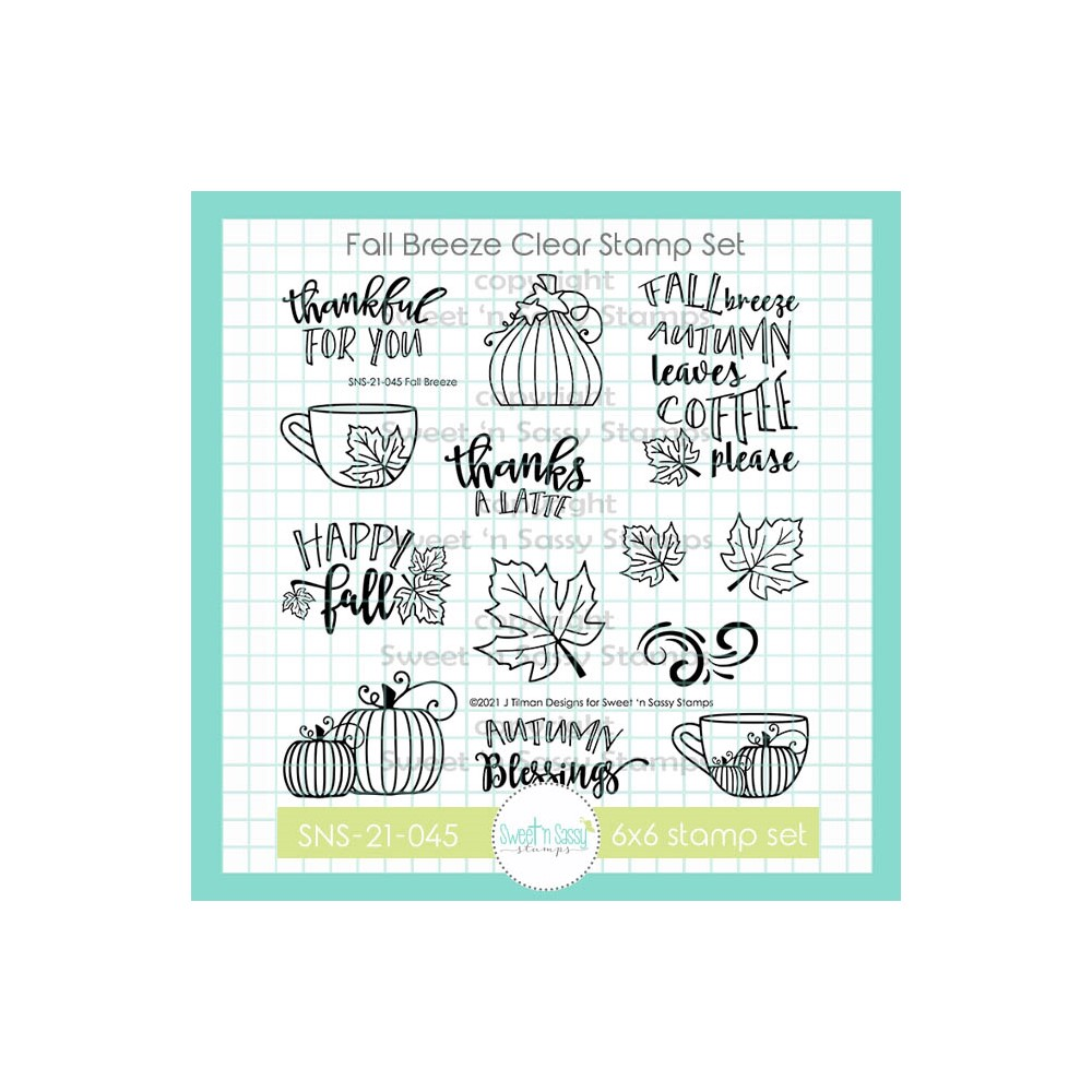 Sweet 'N Sassy FALL BREEZE Clear Stamp Set sns21045 zoom image