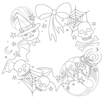The Rabbit Hole Designs HALLOWEEN WREATH Clear Stamps TRH-130