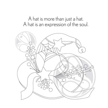 The Rabbit Hole Designs ALL ABOUT THE HAT Clear Stamps TRH-128