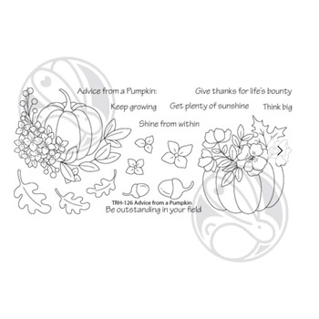 The Rabbit Hole Designs ADVICE FROM A PUMPKIN Clear Stamps TRH-126