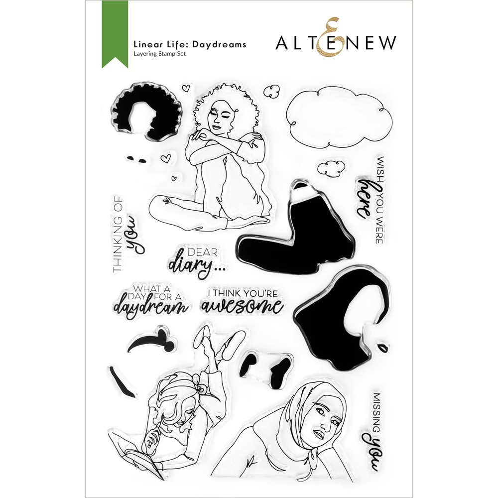 Altenew LINEAR LIFE DAYDREAMS Clear Stamps ALT6317 zoom image