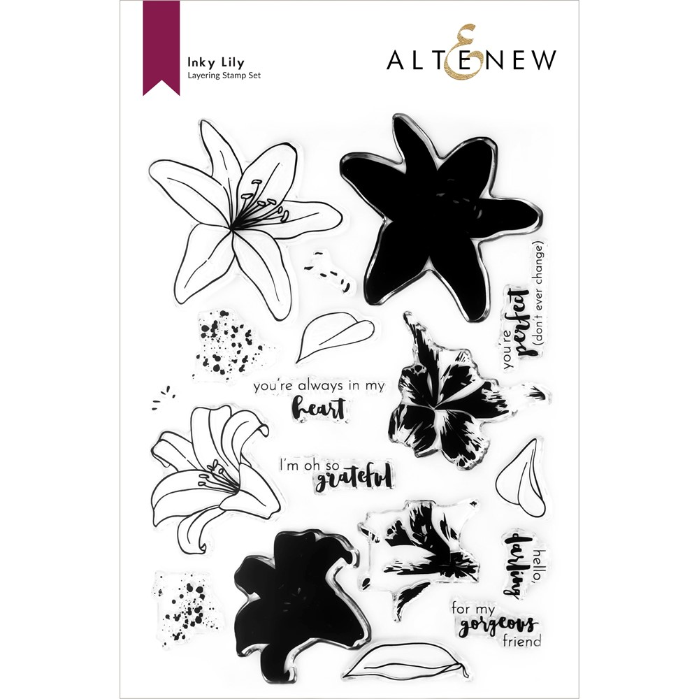 Altenew INKY LILY Clear Stamps ALT6312 zoom image
