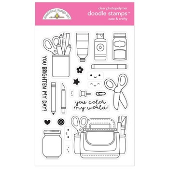 Doodlebug CUTE AND CRAFTY Clear Stamps 7263