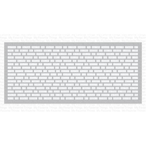 My Favorite Things SLIMLINE ENGLISH BRICK WALL Stencil st160 Preview Image