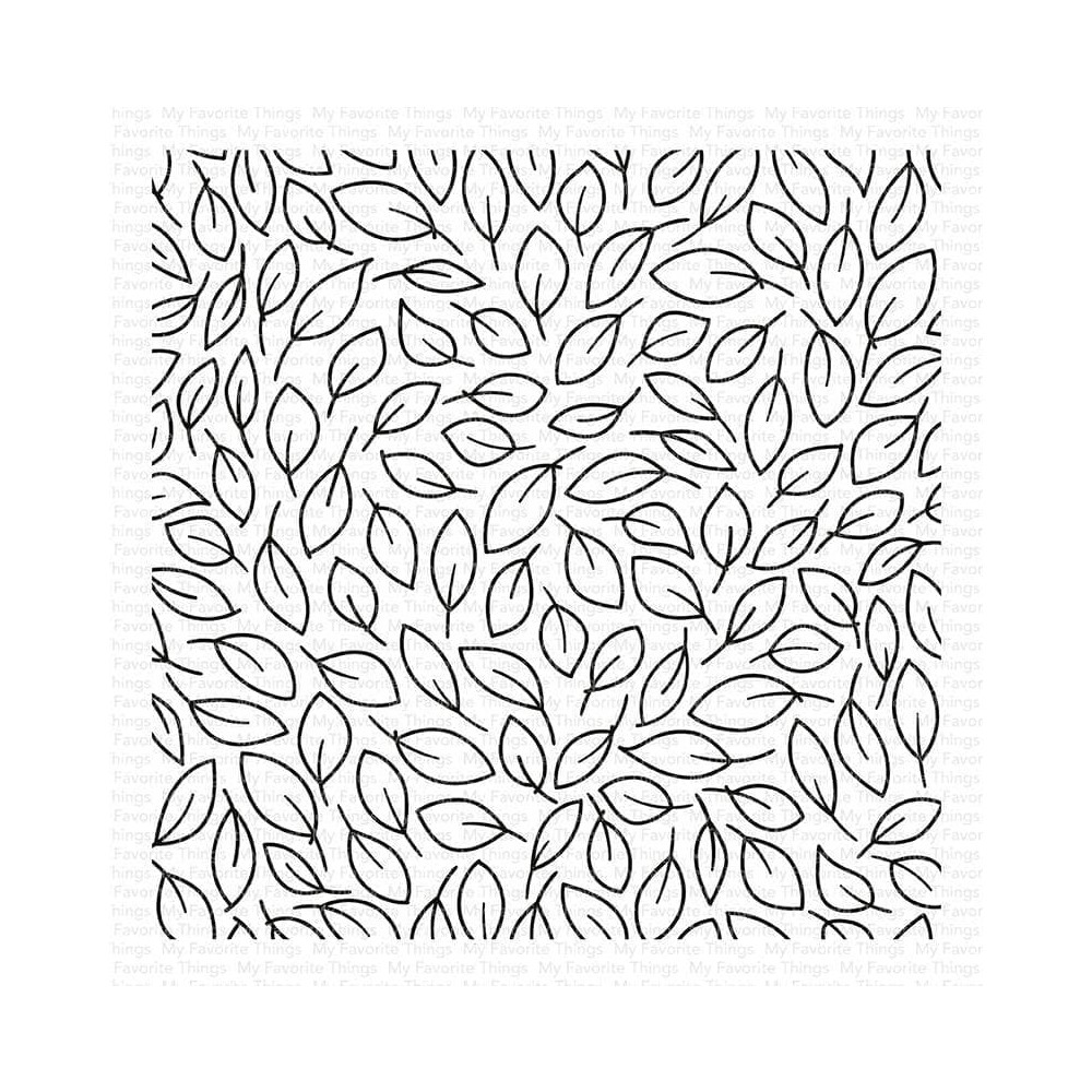 My Favorite Things LITTLE LEAVES BACKGROUND Cling Stamp bg148 zoom image