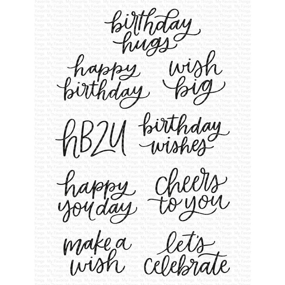 My Favorite Things MINI BIRTHDAY MESSAGES Clear Stamps cs581 zoom image